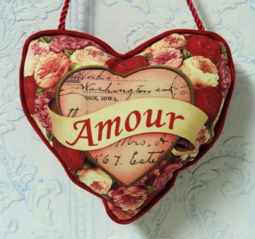 Red Amour Heart Valentine Pillow