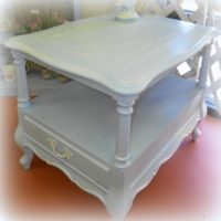 Light Blue Shabby Cottage Side Table
