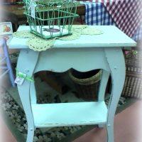 Handmade Shabby Soft Blue Green Accent Table