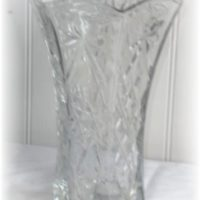 Vintage Anchor Hocking Prescut Star of David Glass Flower Vase