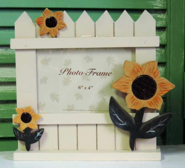 French Country Sunflower Wooden Picture Frame