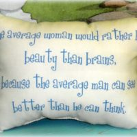 Funny Handmade Printed Pillow  – The Average Woman…