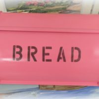 Hot Pink Painted Bread Box