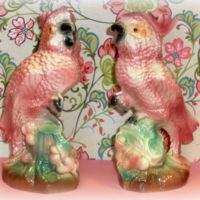 Vintage Mid Century Kitsch Cockatoo Figurines