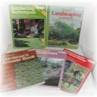 Set of Vintage Gardening How To Books