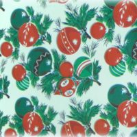 vintage ornaments Christmas wrapping paper gift wrap