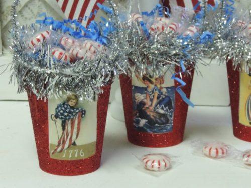 Vintage Victorian Patriotic Treat Cups