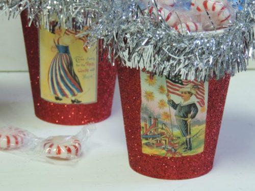 Vintage Victorian Patriotic 4th Of July Treat Cups