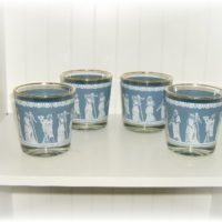 Vintage Blue and White Wedgewood Glasses