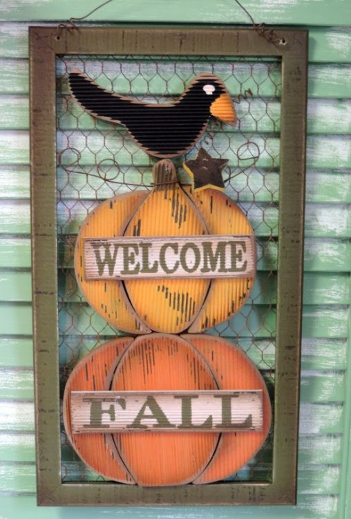 Country Prim Welcome Fall Sign