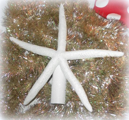 White Starfish Christmas Tree Topper