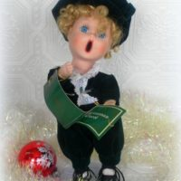 Vintage 1993 Anco Christmas Caroler Doll