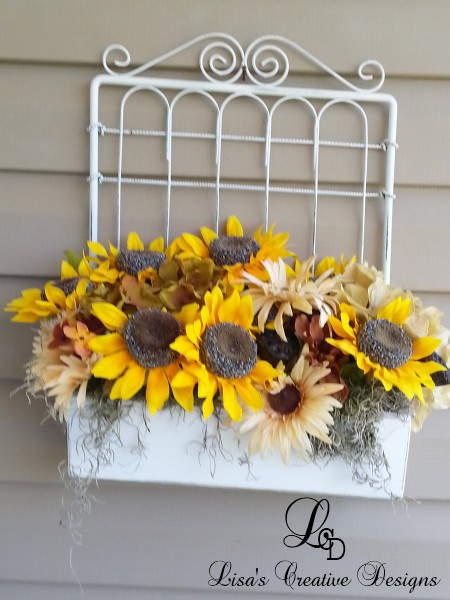 Sunflower Wall Basket