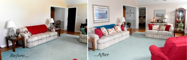 Before and After Livingroom Redesign