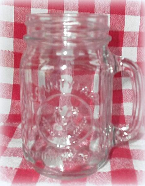 Vintage Mason Jar Drinking Glass