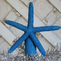 Nautical Turquoise Starfish Christmas Tree Topper