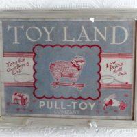 Vintage Inspired Toyland Framed Print Nursery Decor