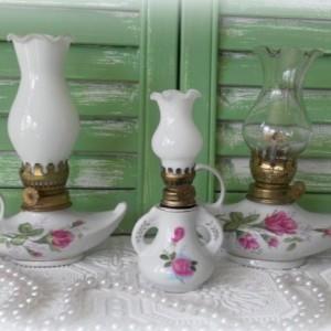 Vintage Moss Rose Lanterns