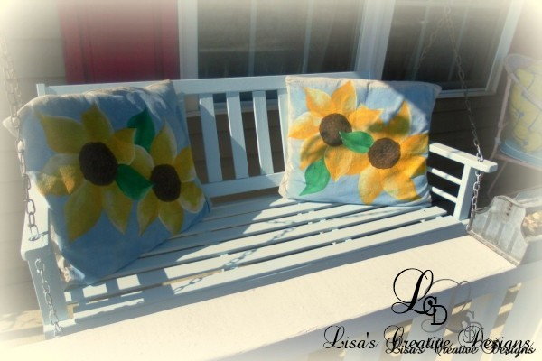 Hand Painted Sunflower Pillows