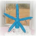 Handmade Starfish Christmas Tree Topper