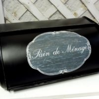 Black French Country Bread Box