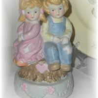 Vintage Ceramic Boy and Girl Figurine