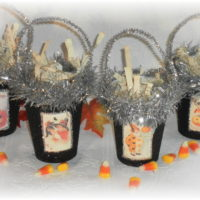Handmade Vintage Inspired Halloween Candy Treat Cups