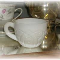 Vintage Pressed Milk Glass Punch Cup