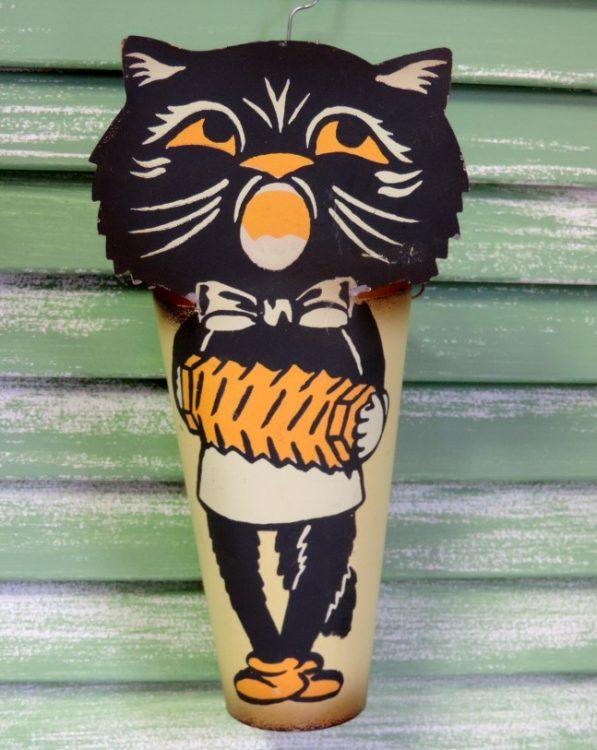 Retro Cat Halloween Treat Cup