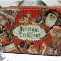 Vintage Victorian Christmas Tin