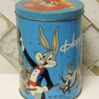 Vintage Bugs Bunny Happy Birthday Tin