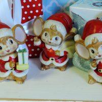 Vintage Homco Christmas Mice
