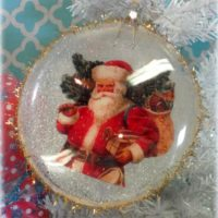 Vintage Victorian Inspired Santa Claus Christmas Ornament