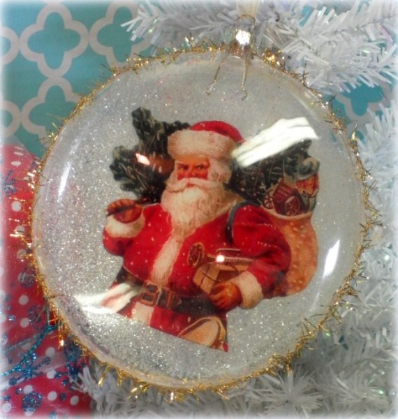 Vintage Inspired Santa Claus Victorian Christmas Ornament