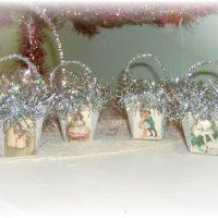Vintage Victorian Handmade Christmas Nut Cups