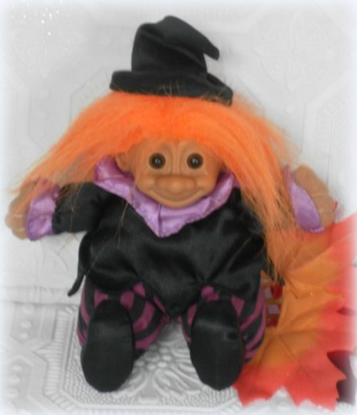 Vintage Witch Troll Doll