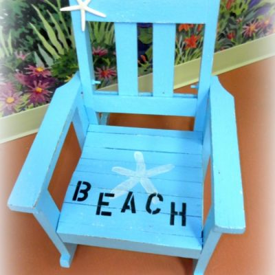 Painted Children's Rocking Chair