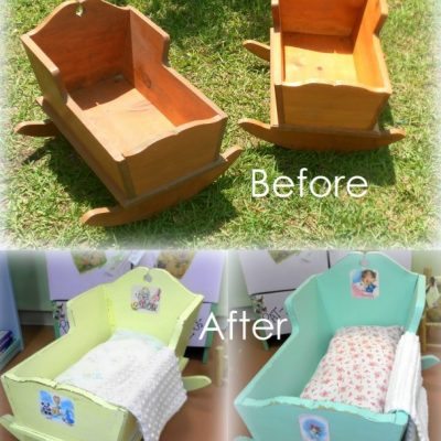 Upcycled Doll Cradle
