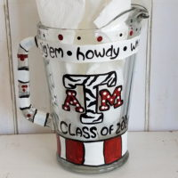 Custom Painted ATM Aggie Ring Dunk Pitcher