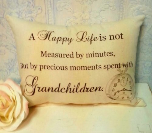 Handmade Grandparents Gift Pillow