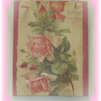 Handmade Shabby Vintage Rose Birthday Plaque