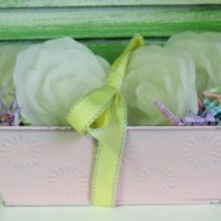 Shabby Chic Rose Candle Gift Set
