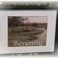 Serenity Beach Inspired Framed Photo
