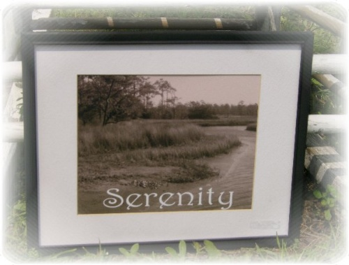 Serenity Beach Inspired Framed Photo