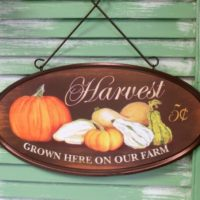 Rustic Country Harvest Sign