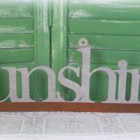 Tin Sunshine Wall Word Country Decor