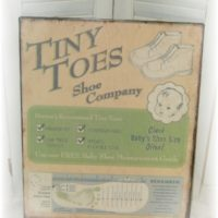 Vintage Inspired Tiny Toes Tin Baby Sign