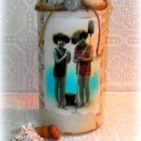 Vintage Beach Inspired Handmade Vase