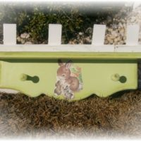 Vintage Inspired Bunny Rabbit Shelf