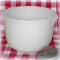 Vintage Milk Glass Mixing Bowl